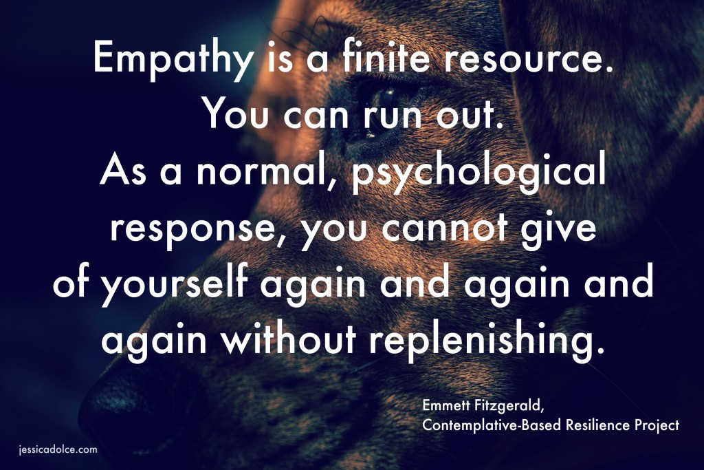 run out of empathy
